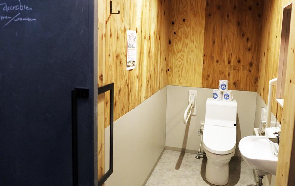 常設のトイレ